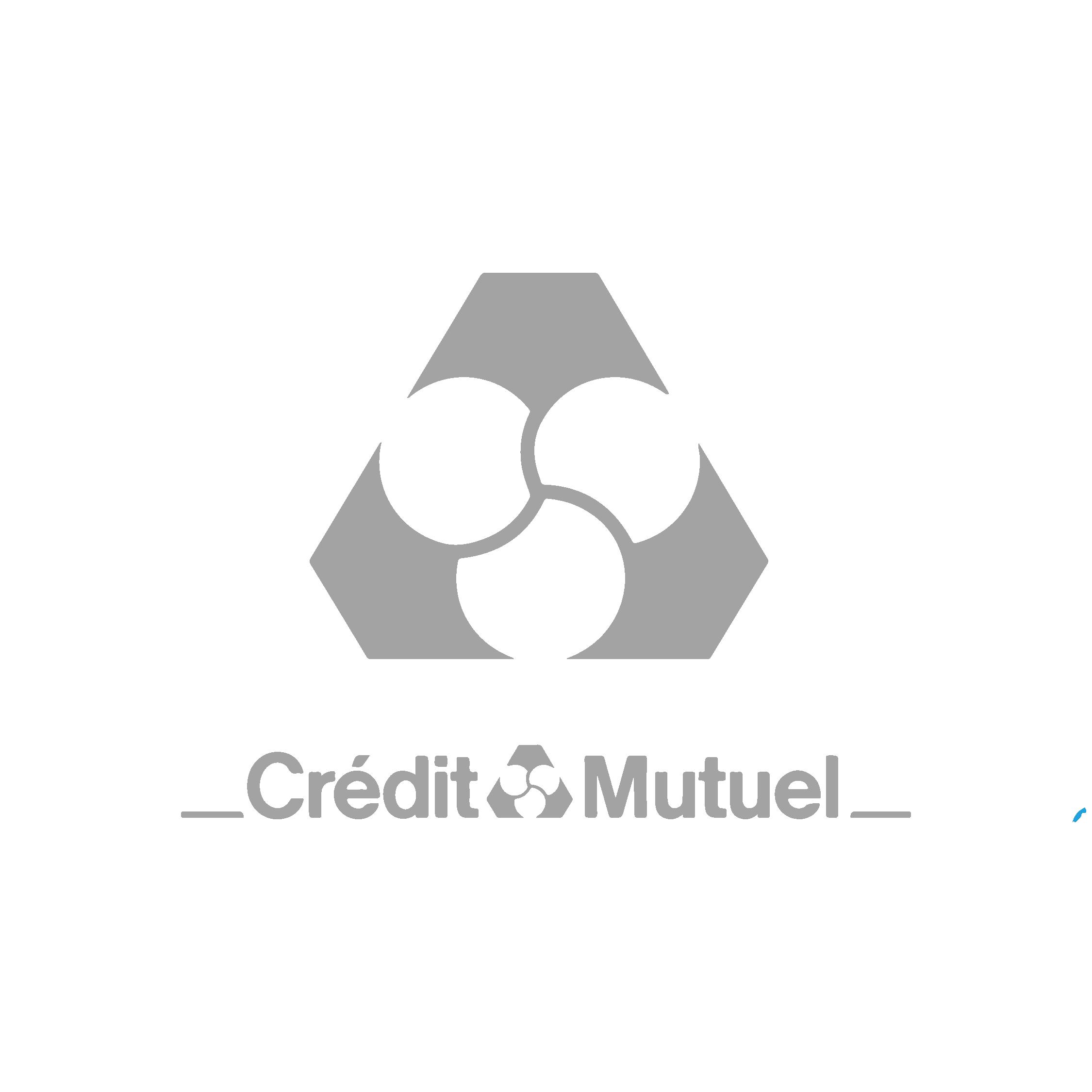 Logo Crédit Mutuel - Agence de communication Break-Out Company