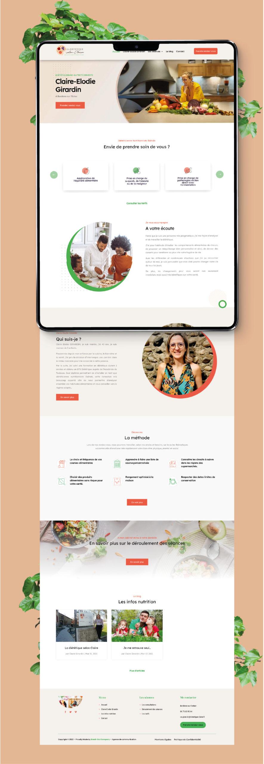 Création site internet Diététique Tarbes