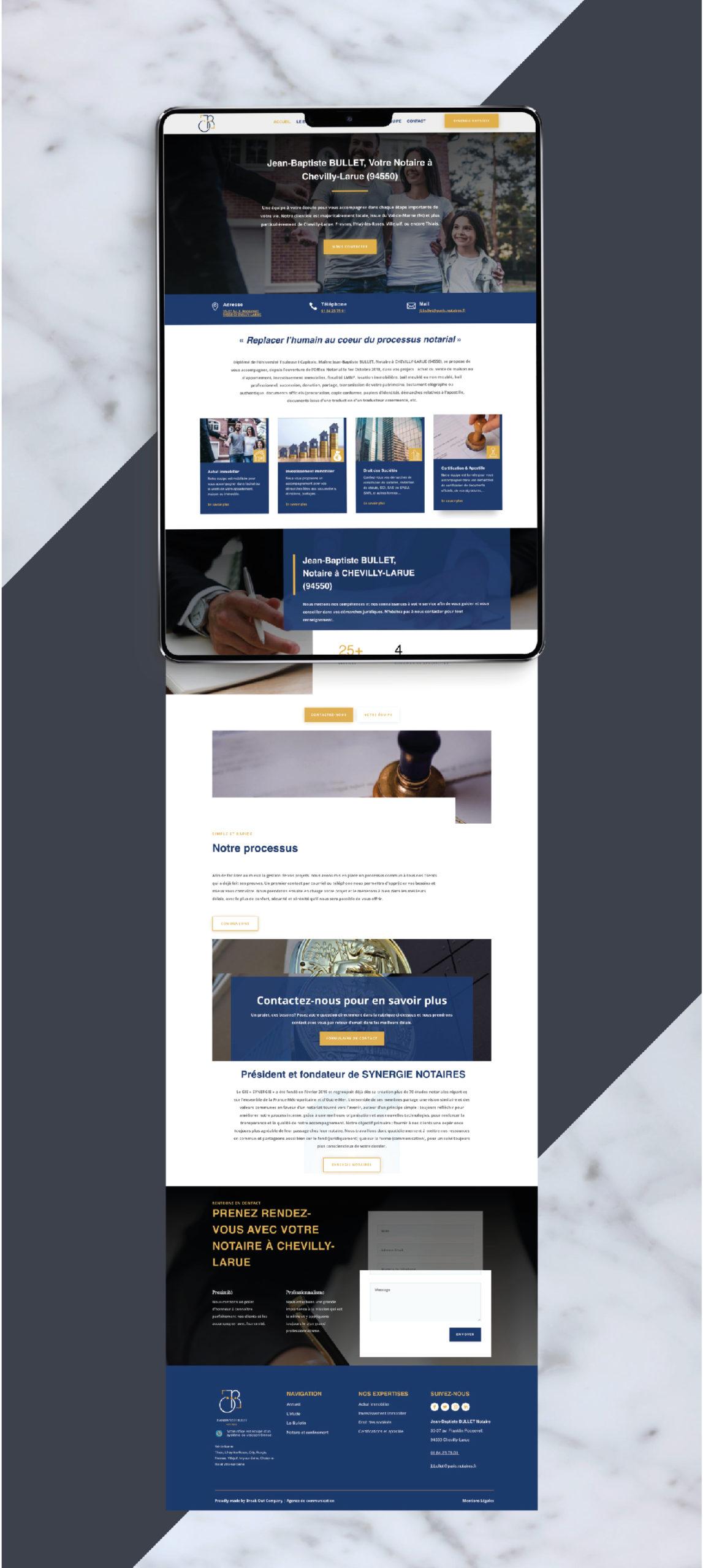 Création site internet notaire Paris