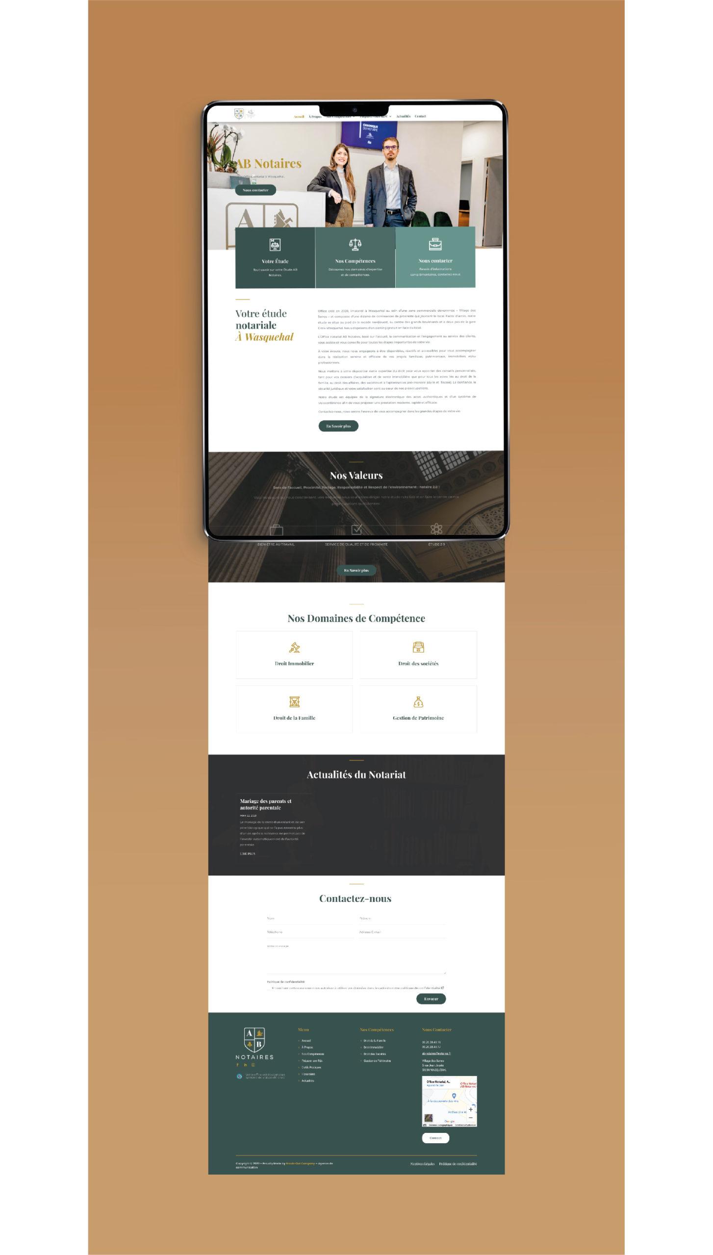 Création site internet notaire Wasquehal