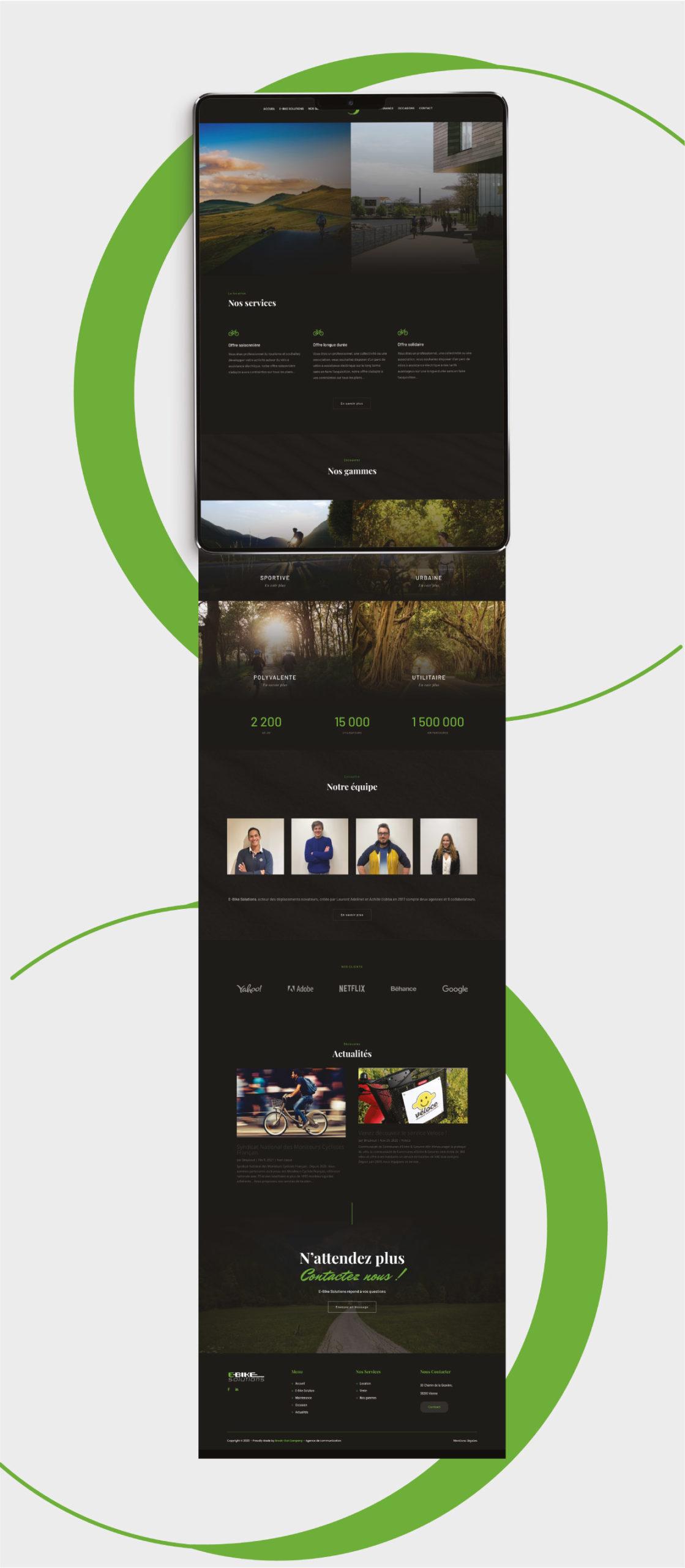 Création du site internet de E-Bikes Solutions à Vienne