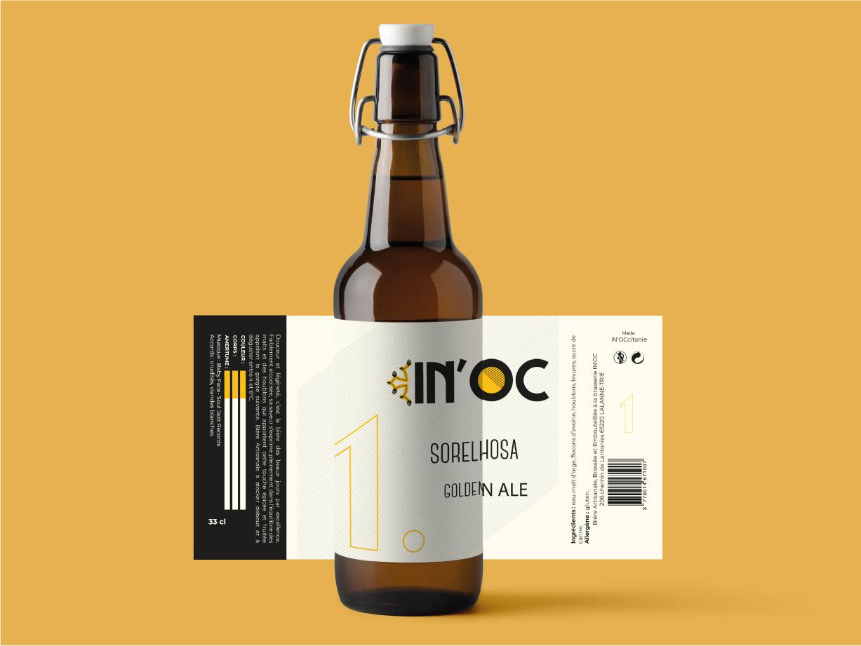 Création étiquette bière In'noc