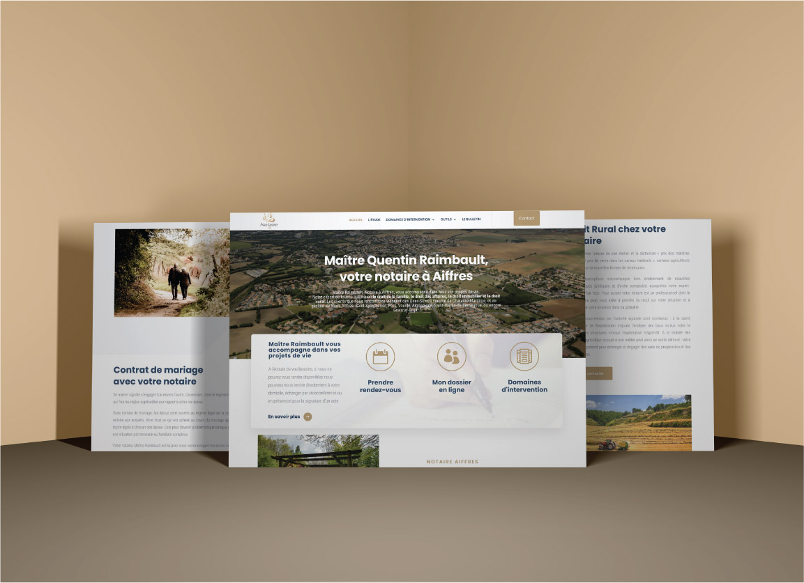 Création du site internet de Maître Raimbault - notaire à Aiffres