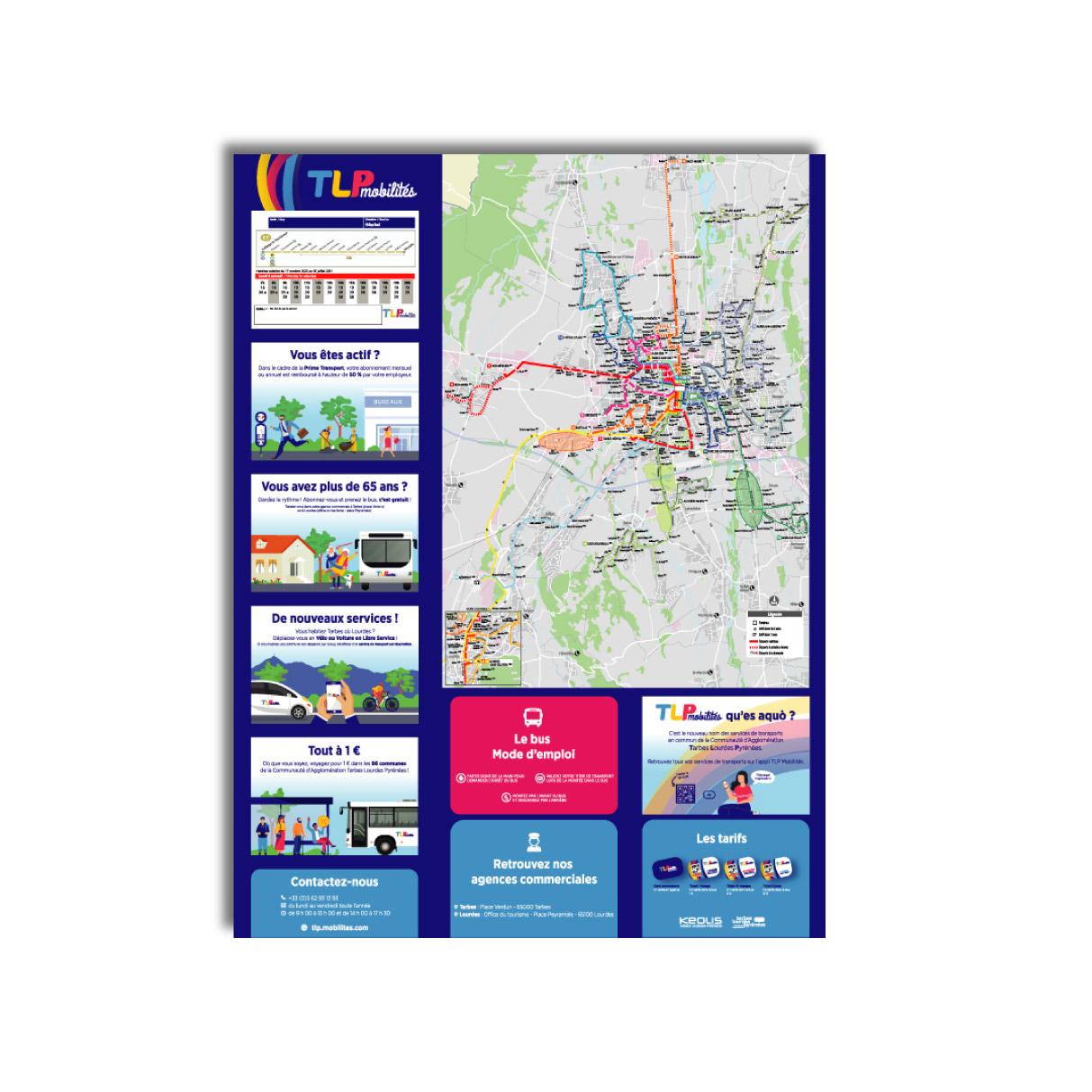 Impression carte et horaires KEOLIS Tarbes