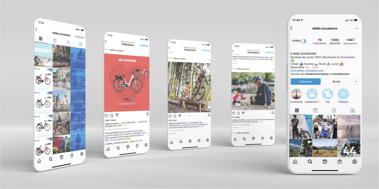 Gestion des réseaux sociaux  E-Bike Solutions