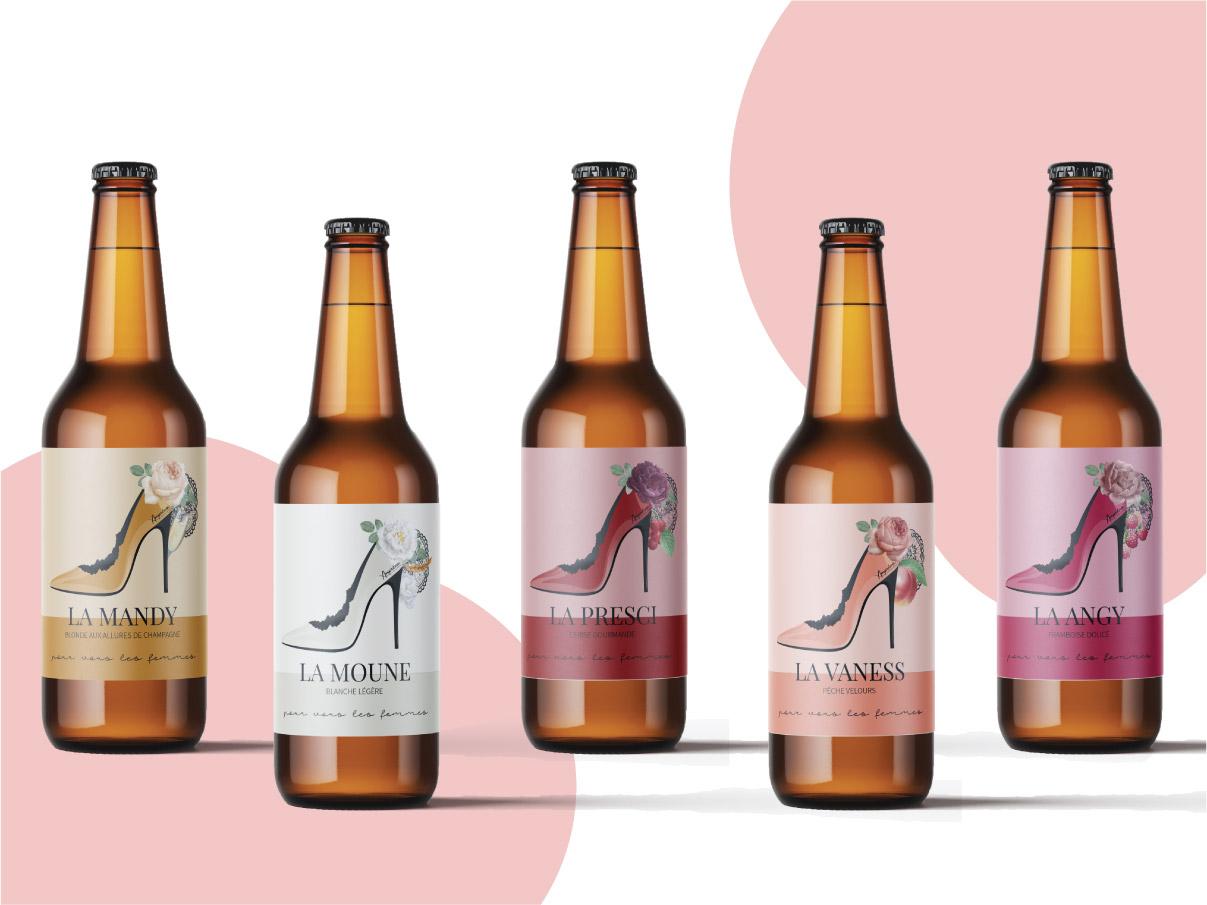 Etiquette bières Ampréva Tarbes