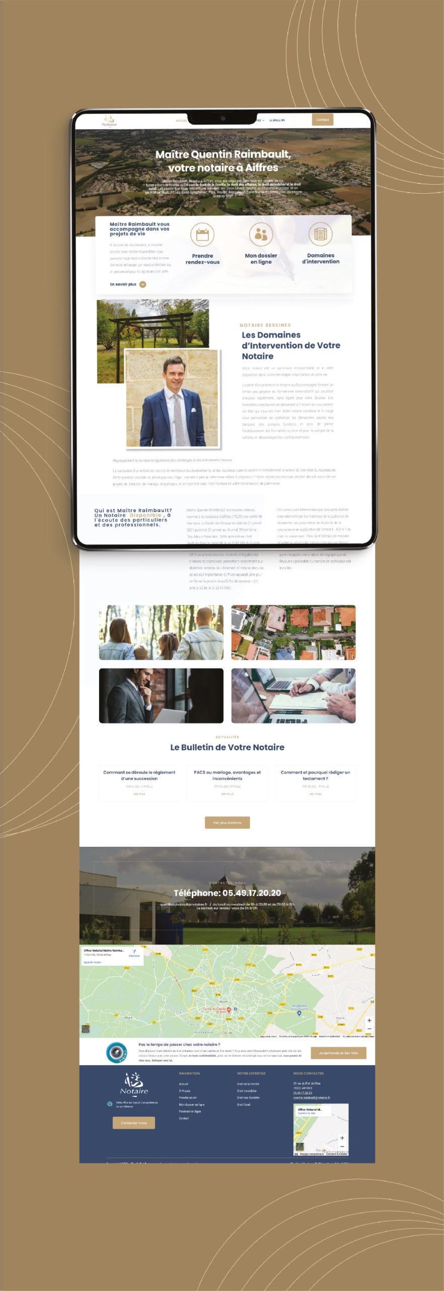 Création du site internet de Maître Raimbault - notaire à Aiffres 2