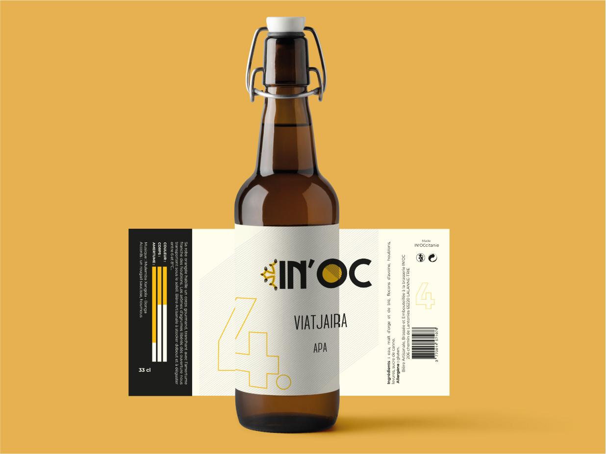 Création étiquette bière In'noc 3