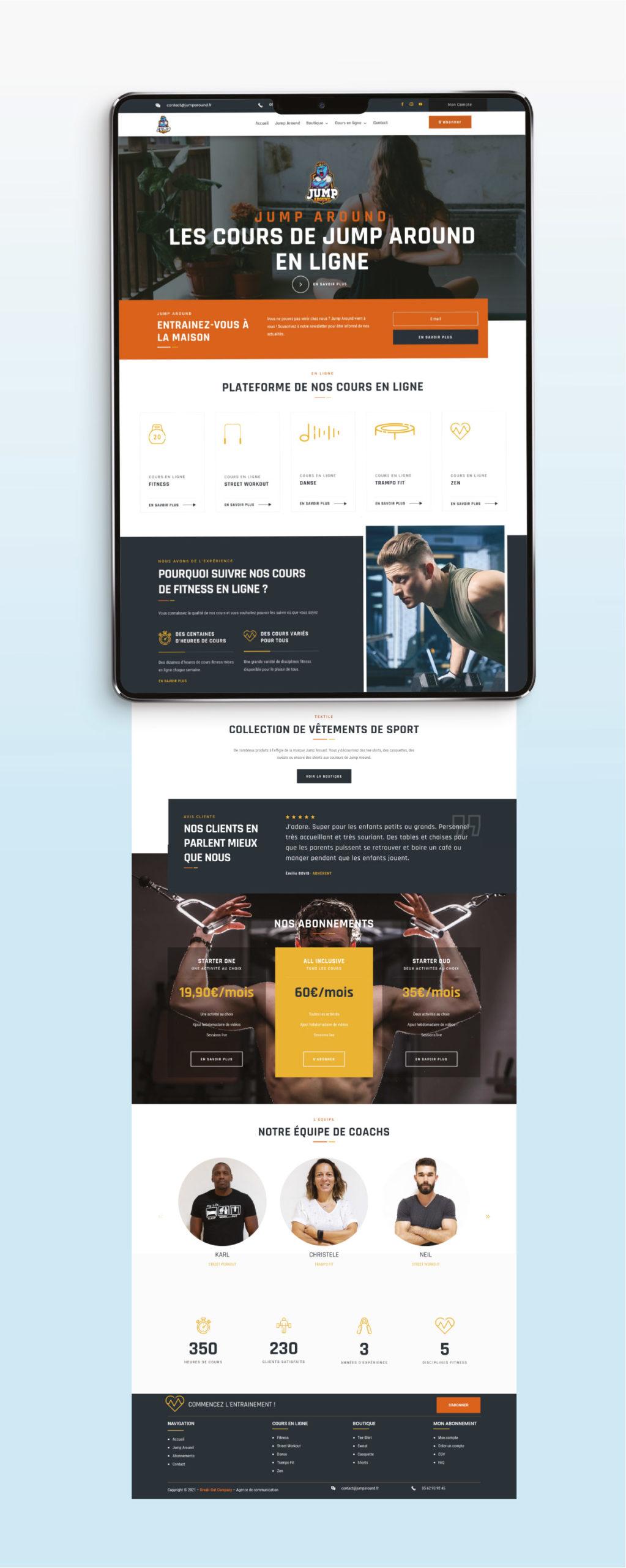 Site internet Jump Around Fitness