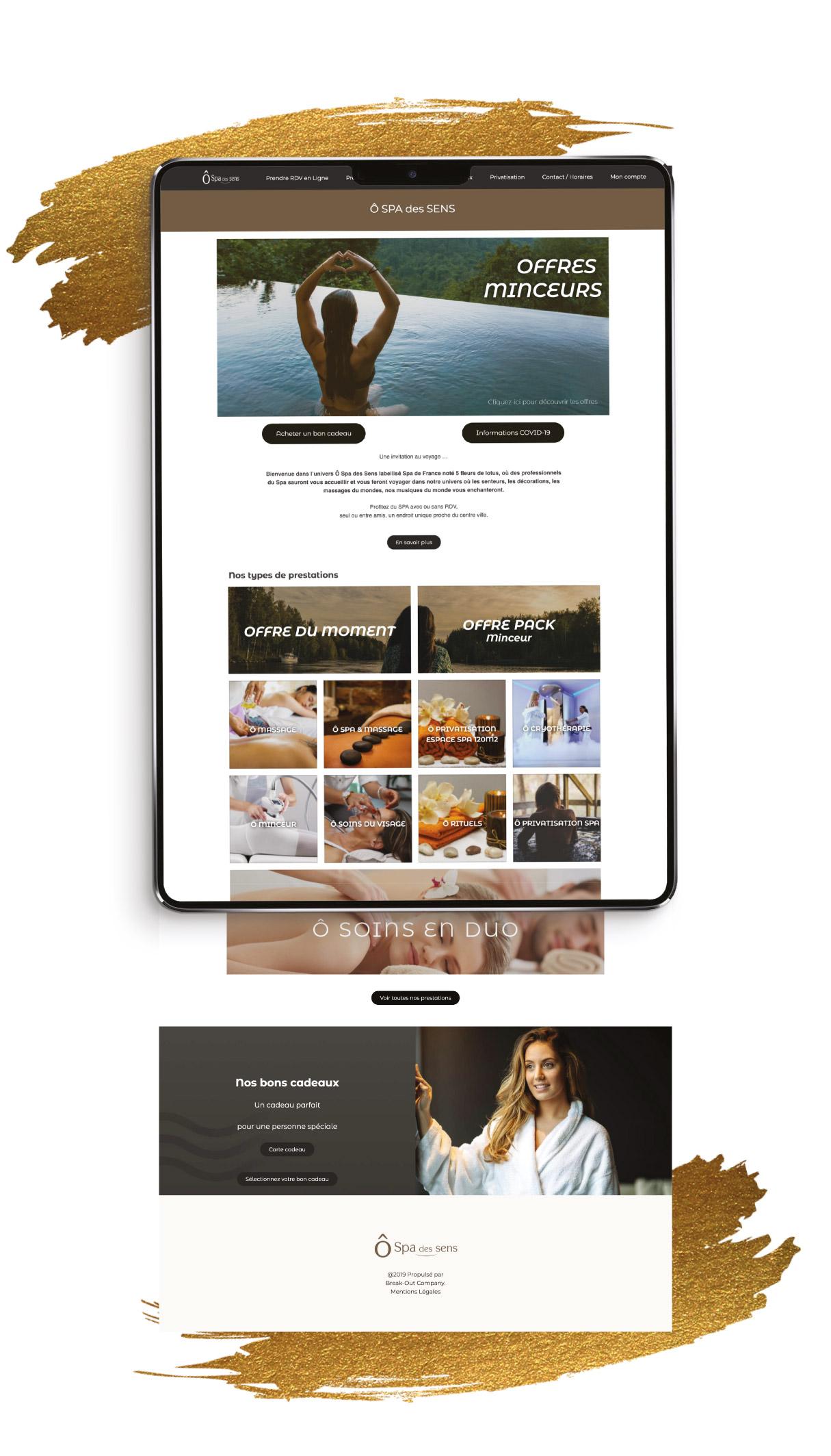 Création site internet Ô Spa des Sens - Tarbes