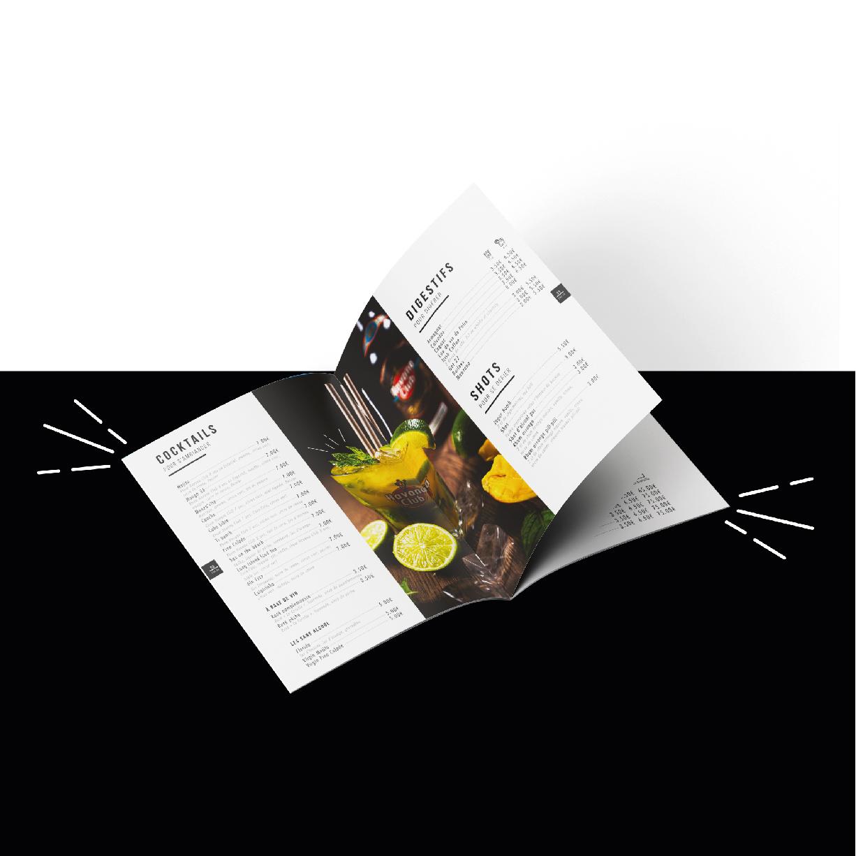 Création menu restaurant Tarbes