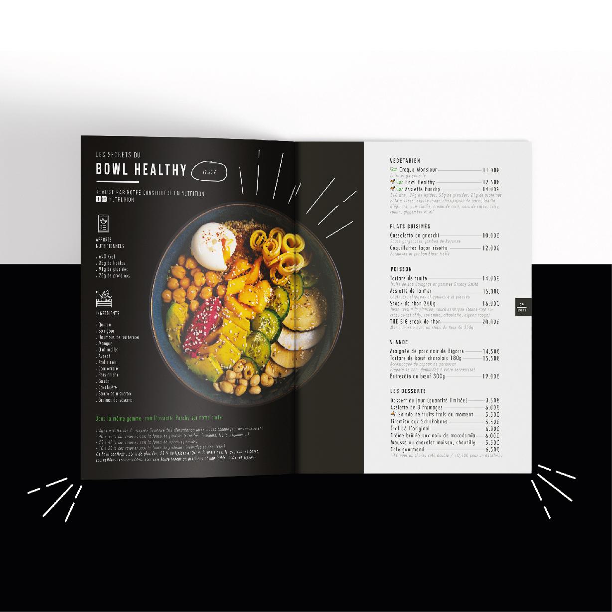 Création menu restaurateur à Tarbes Etal 36