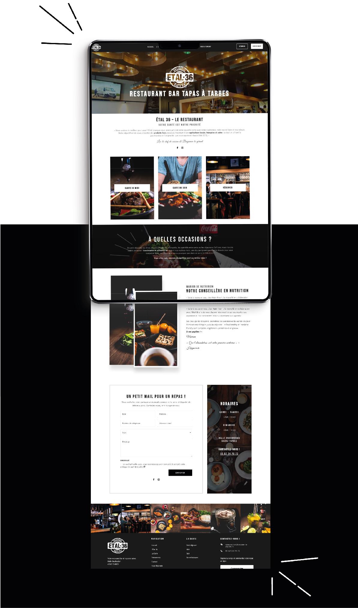 Création site internet restaurant à Tarbes(65)