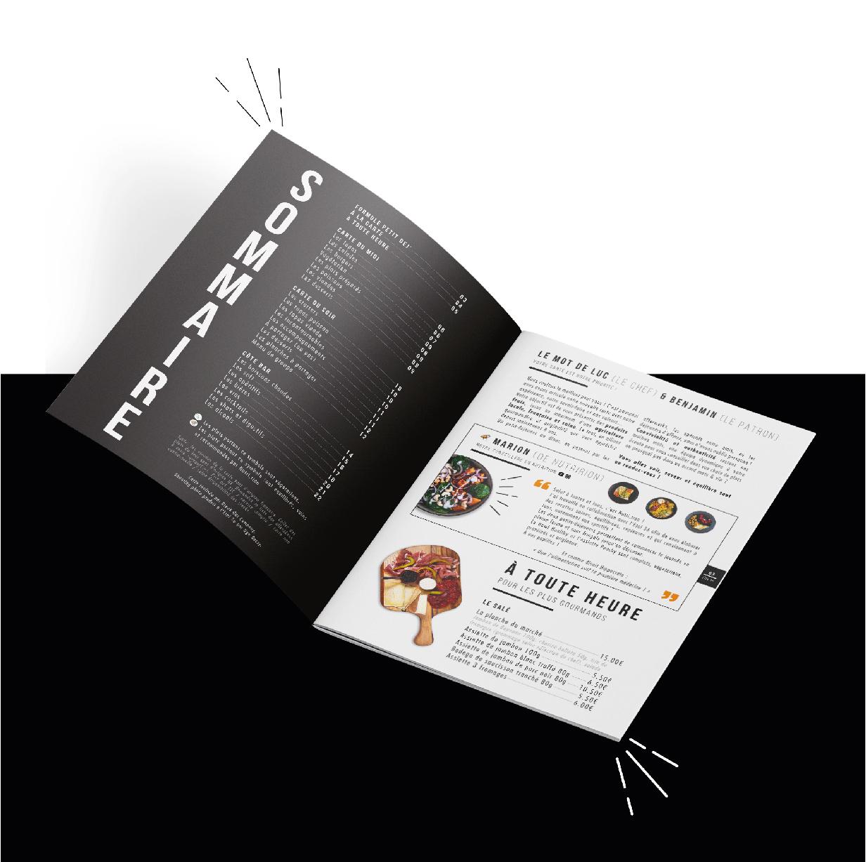 Impression menu restaurant Tarbes(65)